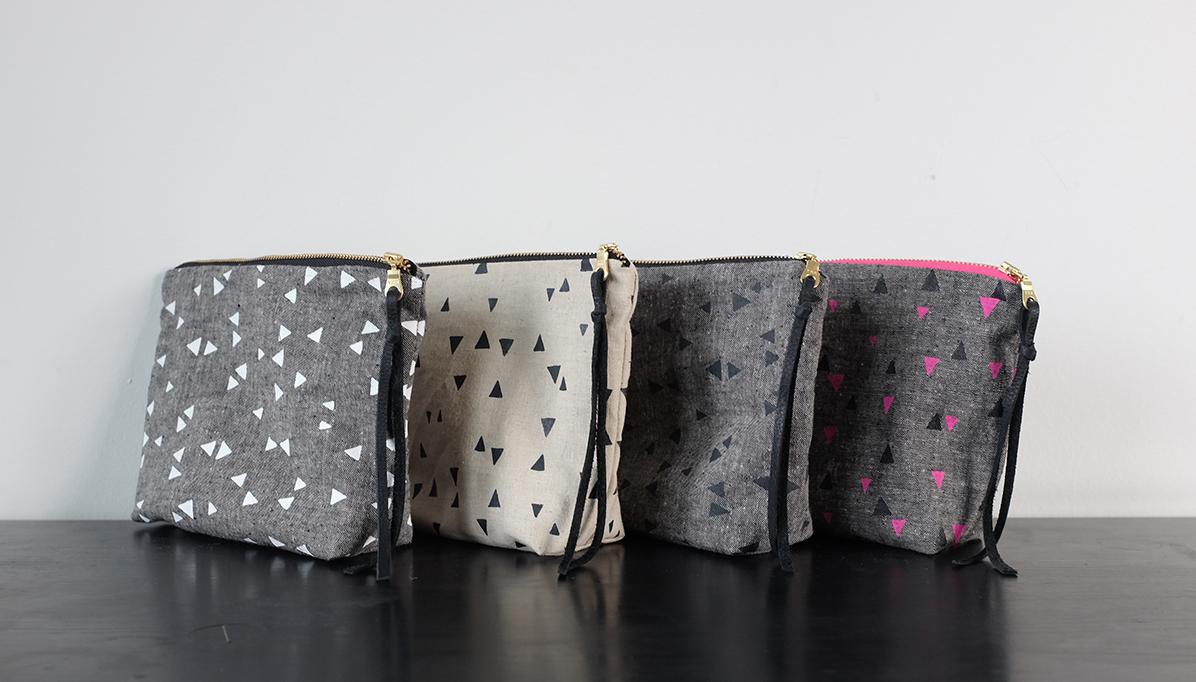 Charis-printed bags