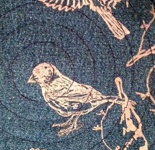 SIRI indigo bunting silkscreen print 2013