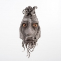 'Movember' tree spirit mask Felted wool mask to fit adult head